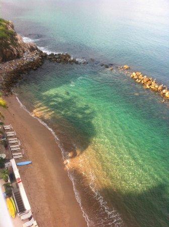 Costa Sur Resort & Spa : la excelente vista desde mi habitacion hacia la playa privada