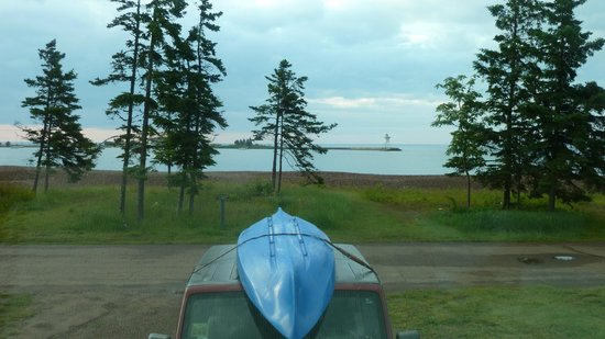 Grand Marais RV Park and Campground : View from front window of RV