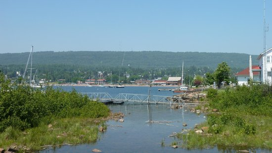 Grand Marais RV Park and Campground: Harbor view from Coast Guard Station