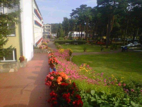Bocianie Gniazdo Hotel: goed onderhouden moie tuin