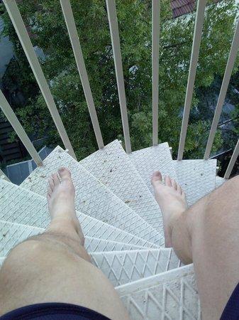 """Hurriyet Hotel: Sitting on my """"balcony"""""""