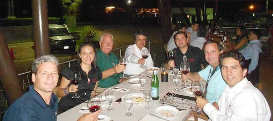 Andiamo La : My group enjoyed the wine and the food, and the outdoor seating was lovely -- a perfect temperat
