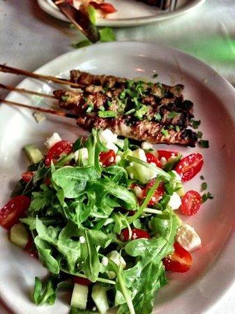Aria Trattoria: lamb and salad
