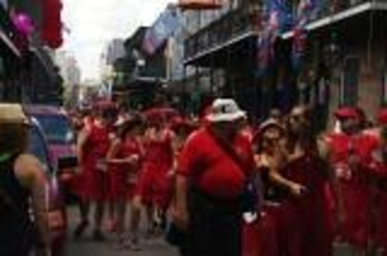 Red Dress Day on Royal Street