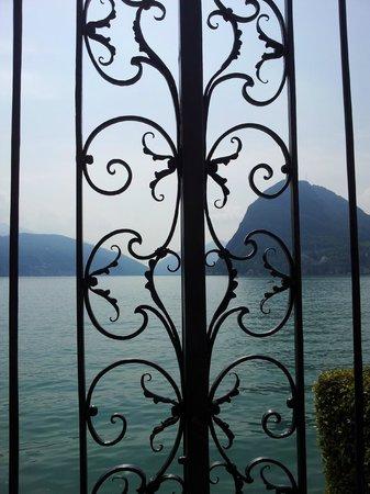 Lake Lugano: Detalhe do portão do Lago Lugano