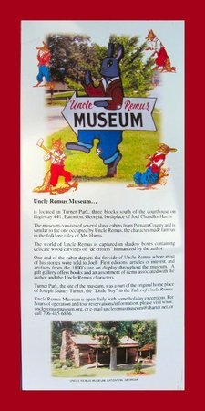 Uncle Remus Museum: Museum Flier