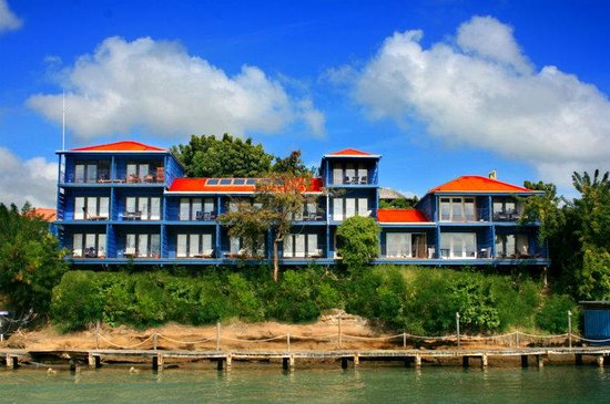True Blue Bay Boutique Resort: Waterfront From Bay