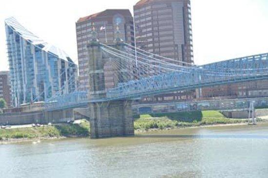 Riverwalk: Ohio River from Cincinnati side
