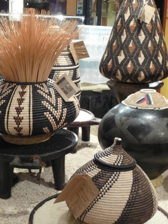 Zulu Baskets And Old Beer Pots On Display In Gallery