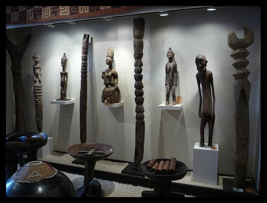 A wall in the Africa and Beyond gallery