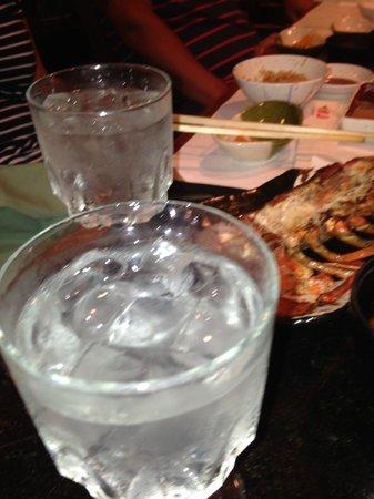 Restaurant Suntory Honolulu: 焼酎でぐぐっと