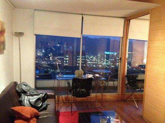 Austral Suites: Sala e Vista Noturna 20. Andar