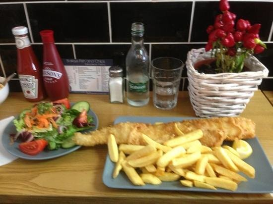 Baileys Fish and Chips: bailys cod and chips lunch special