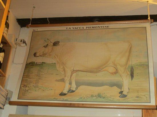 Rimessa Roscioli: Cow. On the wall.