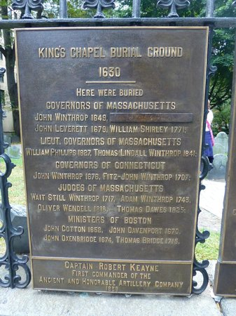King's Chapel: Burying Ground Who's Who
