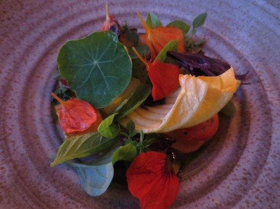 Willows Inn Restaurant: foraged salad