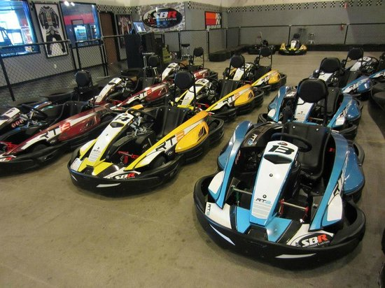 San Bernardino, CA: Real gas-powered racing go-karts