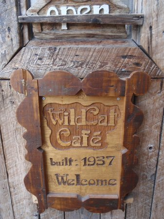 Wildcat Cafe: Sign outside