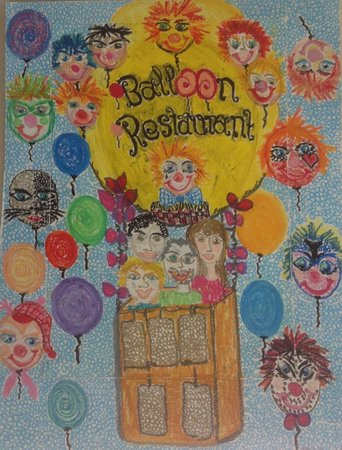 Balloon Restaurant: Hand made picture from Ruth