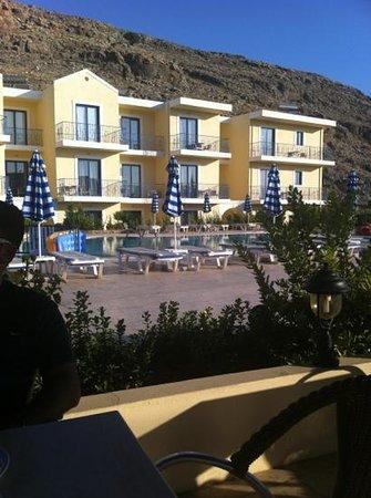 Rafael Studios: Vista dal bar dell'Hotel