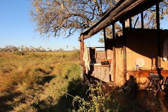 Delta Camp: unser Chalet mit Ausblick