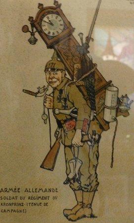 Musée Hansi : Spöttische Darstellung der ehemals deutschen Besatzer im Elsass