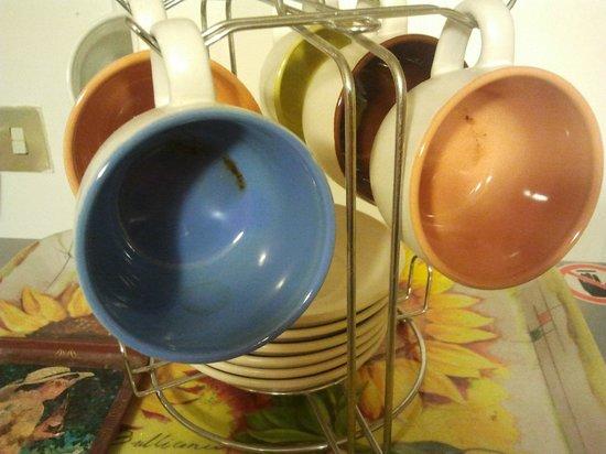 Girasolereale Rome Bed and Breakfast : Tazze per il latte sporchissime