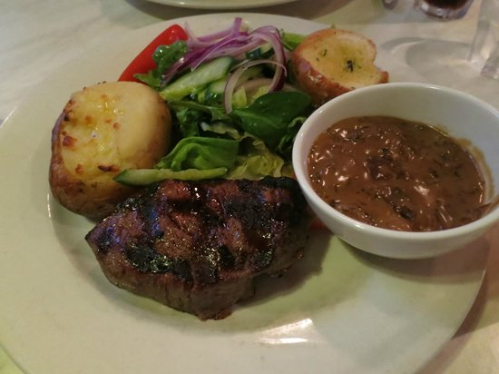 Morrison Hotel: Eye Fillet Steak with Mushroom Sauce - Delicious!