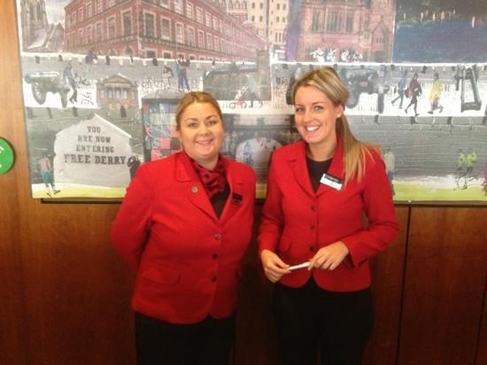 City Hotel: friendly reception team