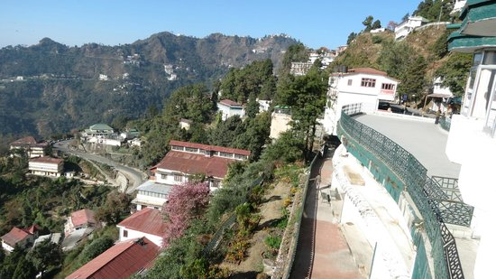 GMVN Garhwal Terrace: View of valley and the adjacent terrace of the hotel from the room