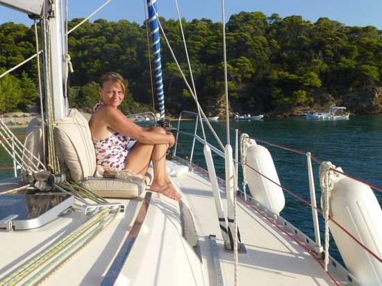 Sail the Day - Skiathos Sailing Trips : Wife totally chilled