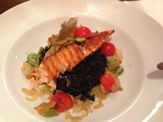 Agit Hotel Congress & Spa: Salmon with black rice