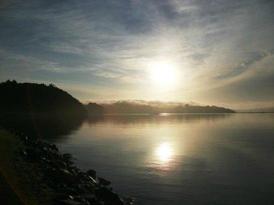 Sunset at Whangateau Holiday Park
