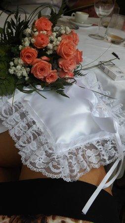 La Piazzetta dei Sapori: Bouquet e cuscino-fedi della sposa