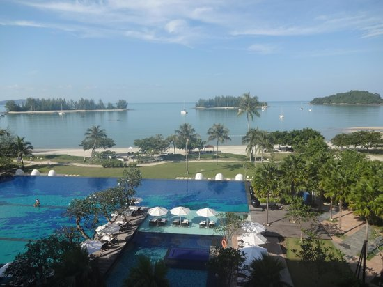 The Danna Langkawi, Malaysia : view onto the pool and beach