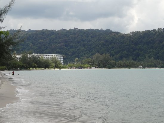 The Danna Langkawi: the hotel from the end of the bay