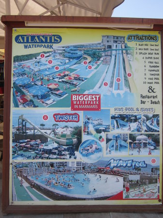 Map of the park Picture of Marmaris Atlantis Waterpark Marmaris