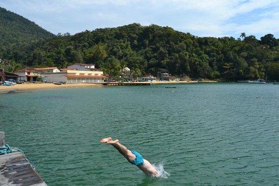 Vila Pedra Mar: Vom Steg direkt ins wunderbar klare Wasser