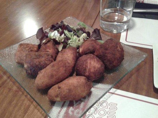 La Cavita : trio de croquetas jamon, boletus y lacon