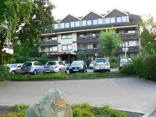 Seehotel Dock: Blick auf den Eingangsbereich