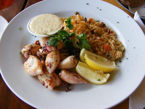 The Drydock Food Co: Grilled calamari
