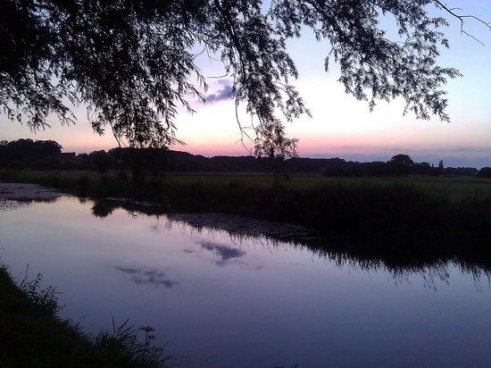 Carricks at Castle Farm: River at the bottom of the garden