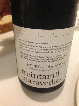 Restaurant Blanqueries: Vino Treintamil Maravedies