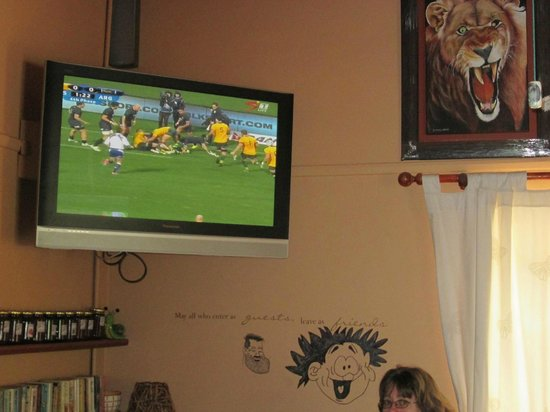Sanita's : Yes we do have a TV for those Ruck Matches