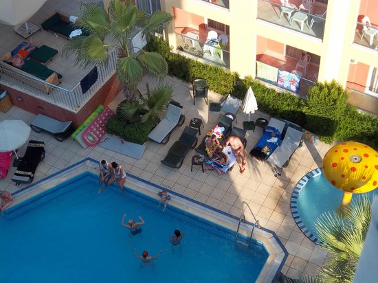 View of swiming pool from balcony of room picture of - Hotel with swimming pool on balcony ...