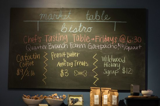 Market Table Bistro: Chalkboard