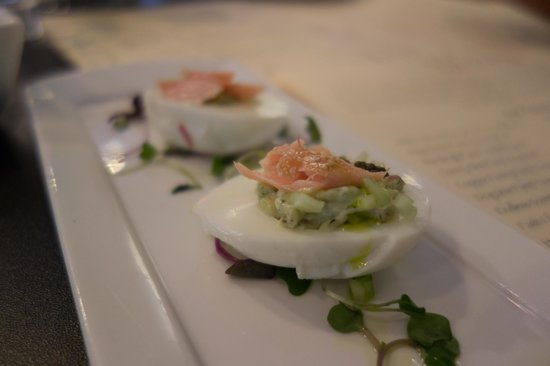 Market Table Bistro: Deviled Eggs, Paprika, Bacon, Chives