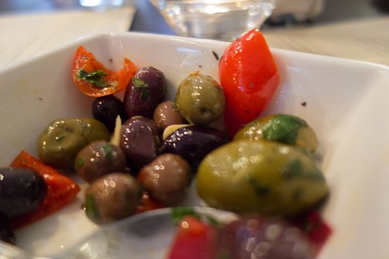 Market Table Bistro: Warm Olives, Fresh Herbs, Peppadew Peppers, Garlic, Olive Oil