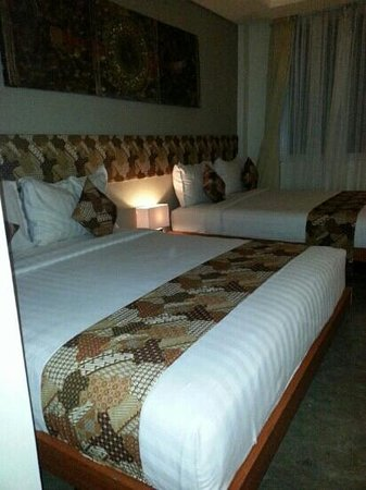 Jocs Boutique Hotel & Spa : 2 double beds with the best pillows!