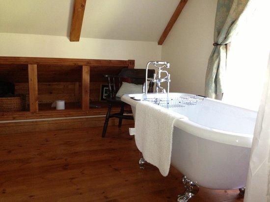 Au Vaillantbourg B&B: La baignoire